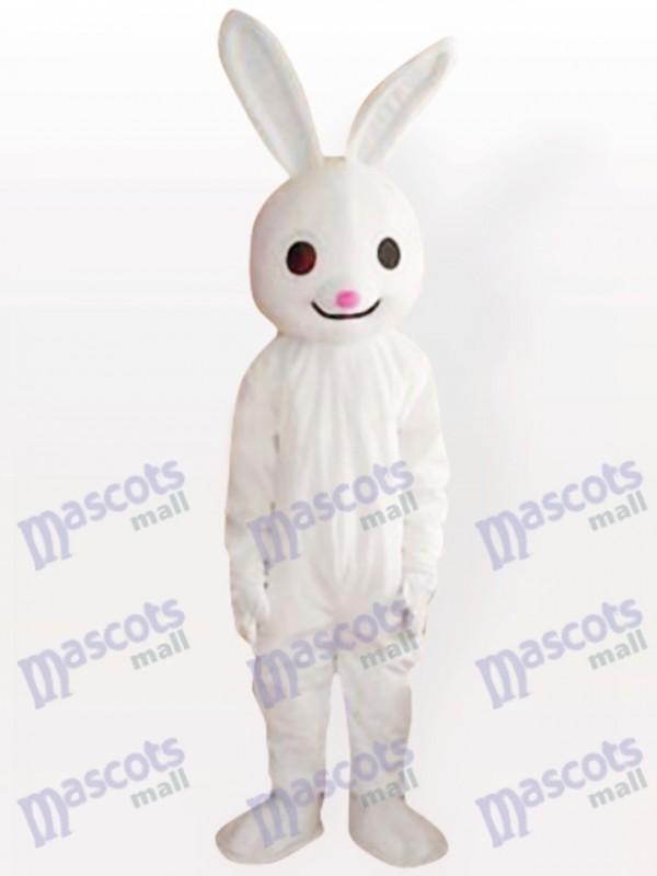 Costume de mascotte d'animal adulte de lapin rose de lapin de rose