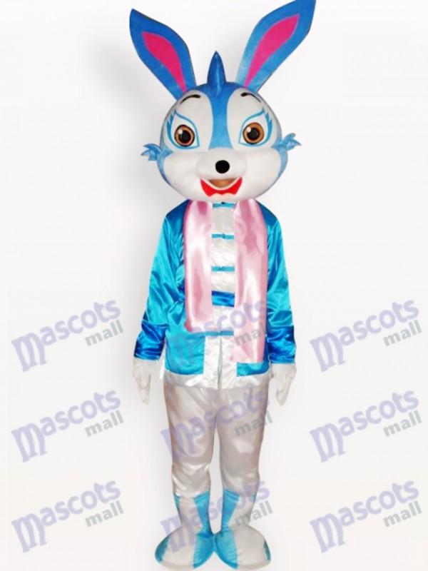 Costume de mascotte adulte de lapin bleu de Pâques