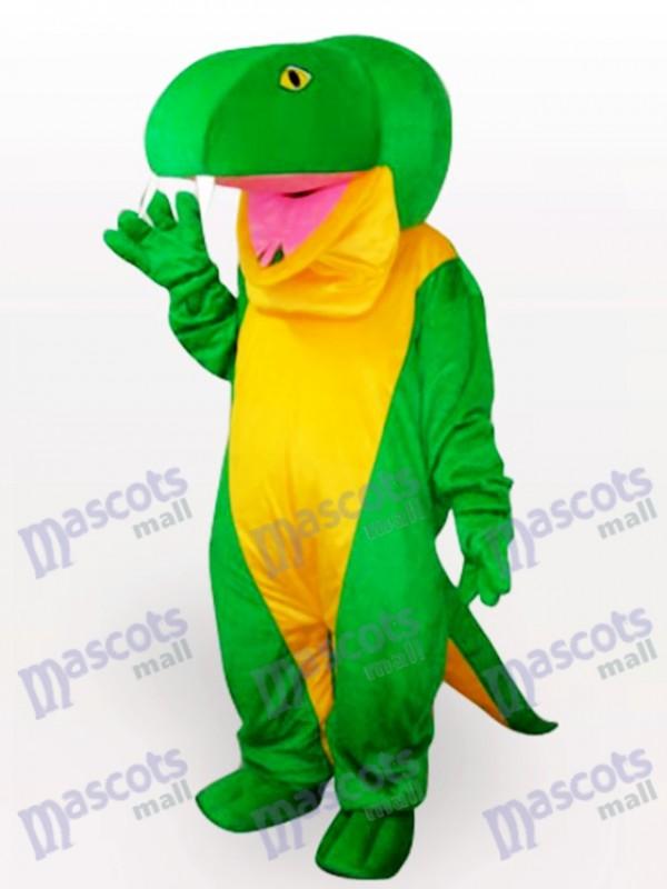 Costume de mascotte adulte serpent vert animal