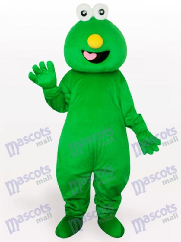 Costume de mascotte adulte de cheveux courts vert monstre
