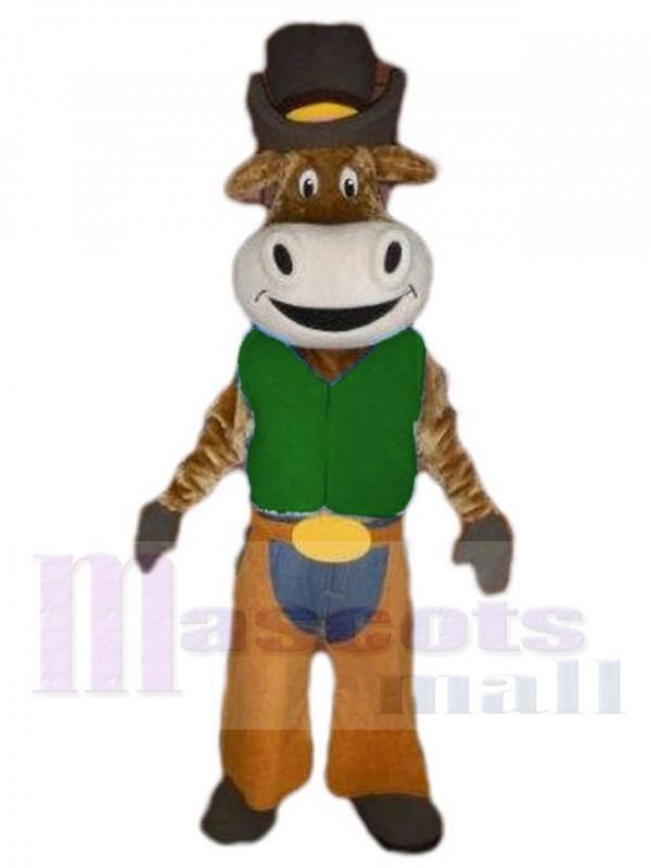 Cow-boy Bœuf Bovins maskottchen kostüm