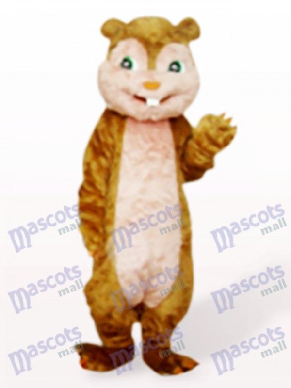 Costume de mascotte adulte brun écureuil cheveux longs