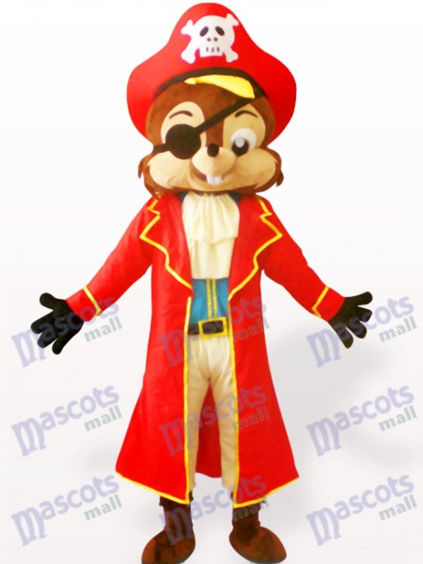 Costume de mascotte adulte animal écureuil pirate
