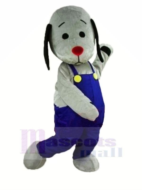 Gris Chien avec rouge Nez Mascotte Les costumes Animal