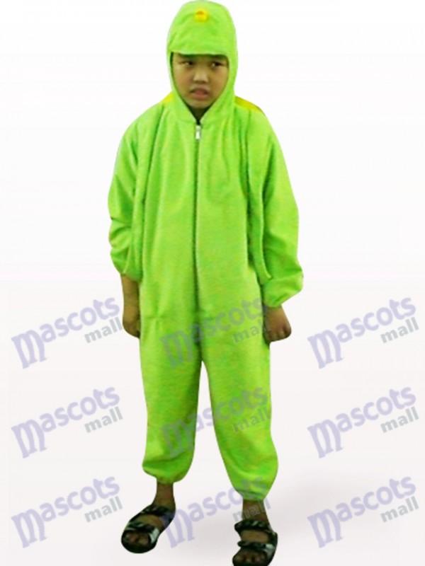Déguisement de mascotte animale vert ouvert de tortue d'enfants