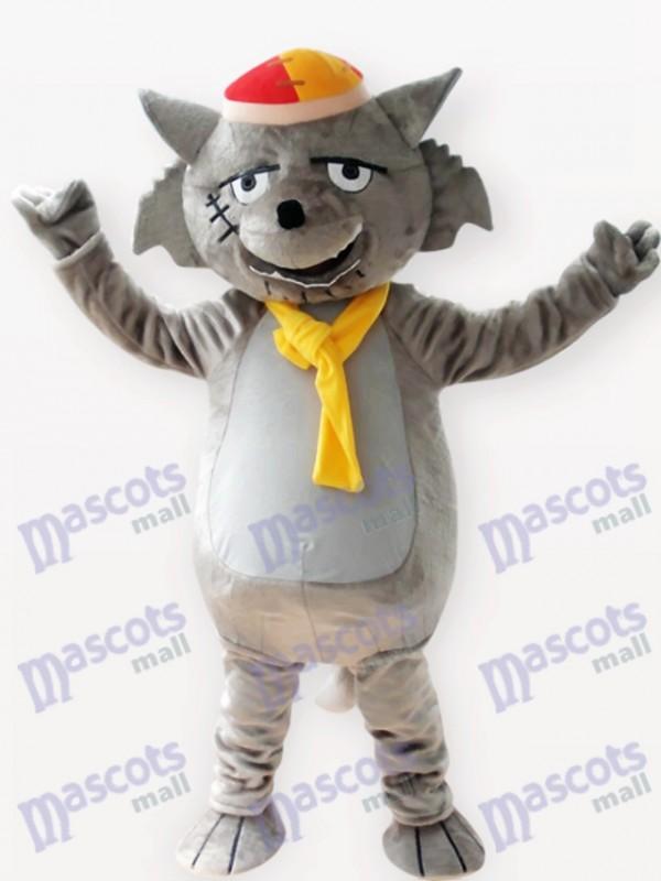 Costume de mascotte adulte gris loup animal