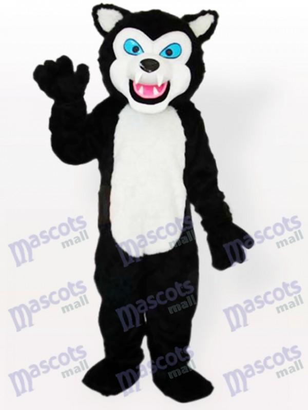 Costume de mascotte adulte Black Wolf