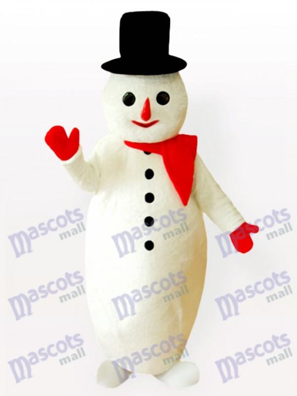 Costume de mascotte de noël homme de neige