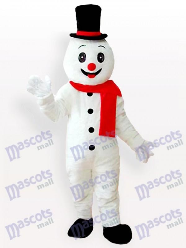 Noël Noël homme de neige avec un costume de mascotte de chapeau