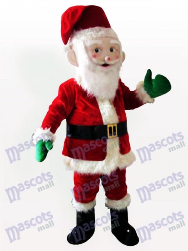 Costume de mascotte de père noël de Noël de Noël